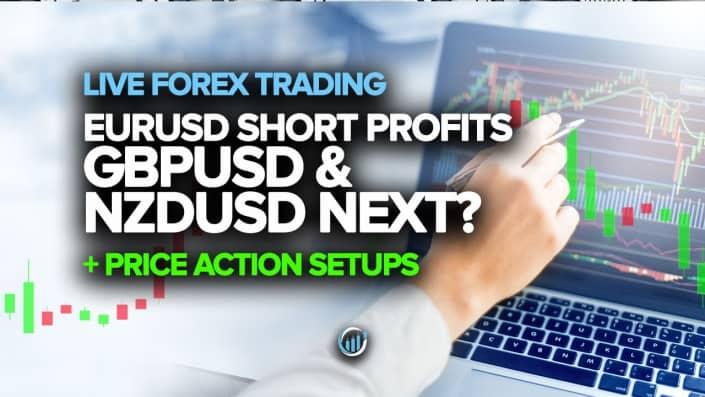 Торговля на Forex в реальном времени - EURUSD, короткие прибыли, GBPUSD и NZDUSD. Далее?