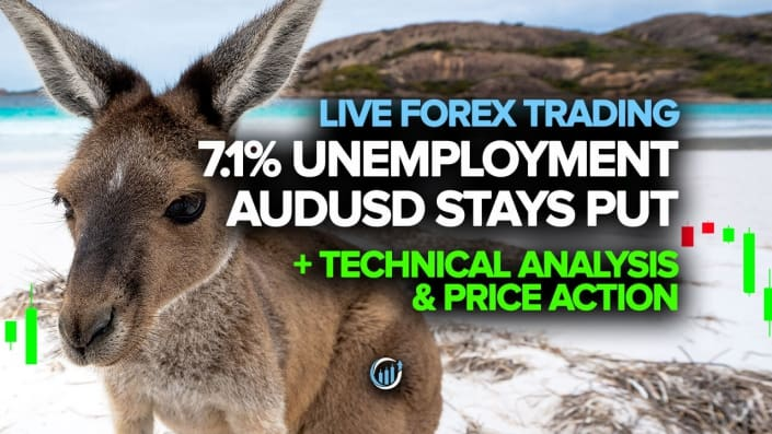 Despite 7.1% Unemployment Rate AUDUSD Stays Put