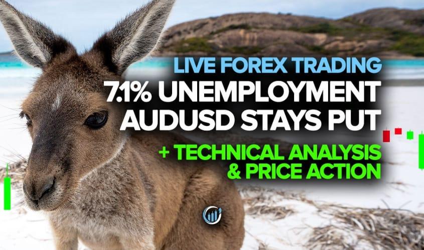 Despite 7.1% Unemployment Rate AUDUSD Stays Put