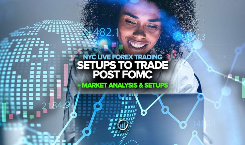 Forex Trading Room - Trade Setups to Trade Post FOMC Rate Decision!