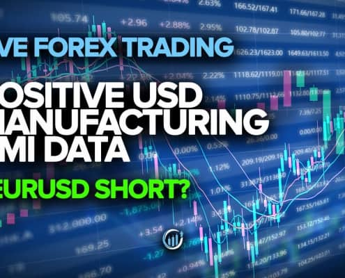 Live Forex Trading - Positive USD Manufacturing Data + EURUSD Short?