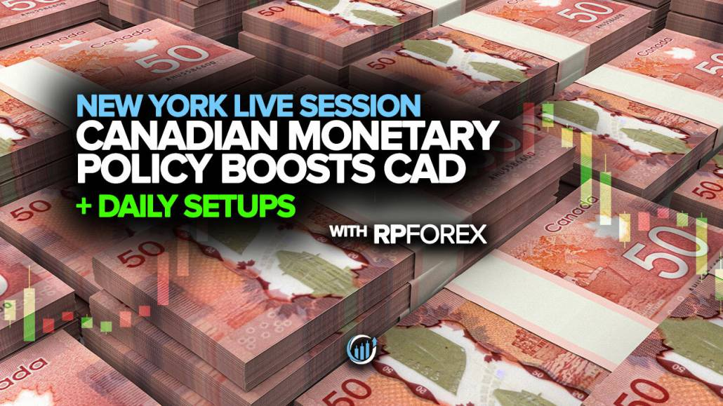 Live Forex Trading - Canadian Monetary Policy Boosts CAD