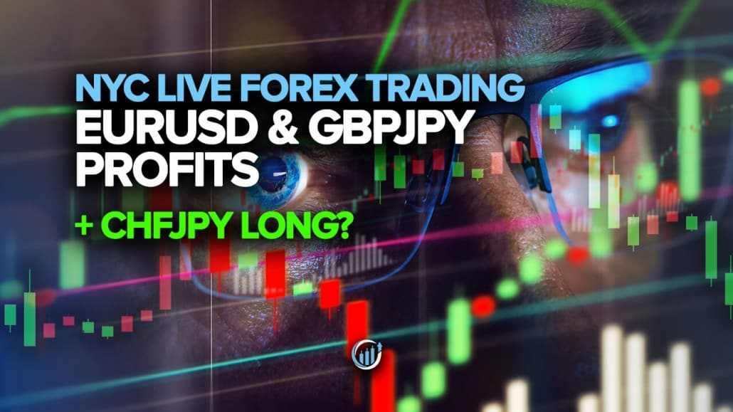 Live Forex Trading - EURUSD and GBPJPY Profits + CHFJPY Long?