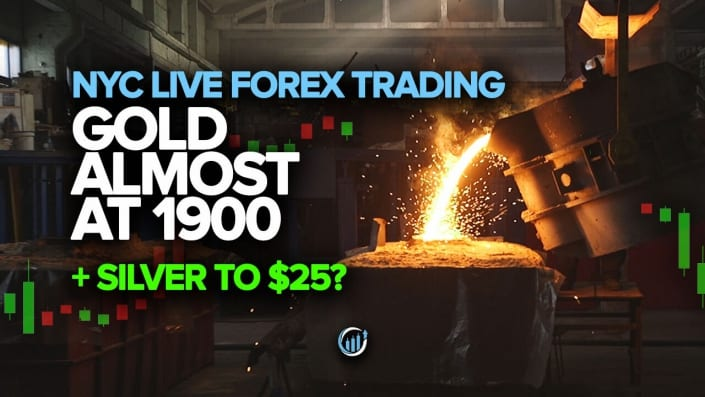 Live Forex Trading - Gold Almost at 1900 + Silver to $25?