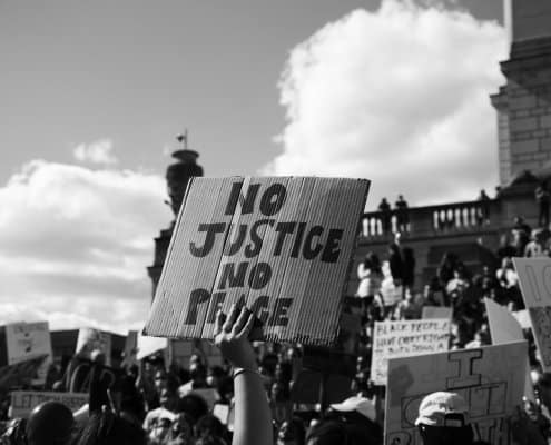 no justice no peace
