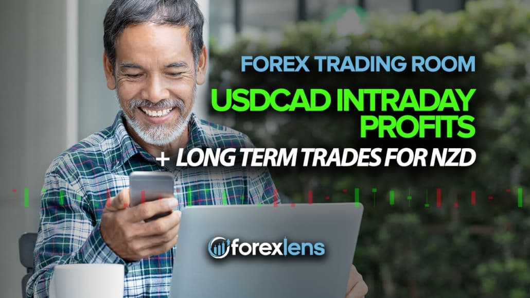 Forex Trading Room - USDCAD Intraday Profits + Long Term Trades for NZD