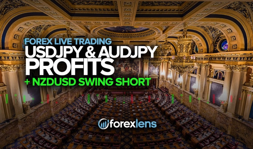 USDJPY and AUDJPY Profits + NZDUSD Swing Short?