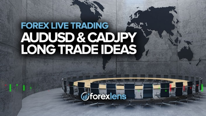 AUDUSD and CADJPY Long Trade Ideas