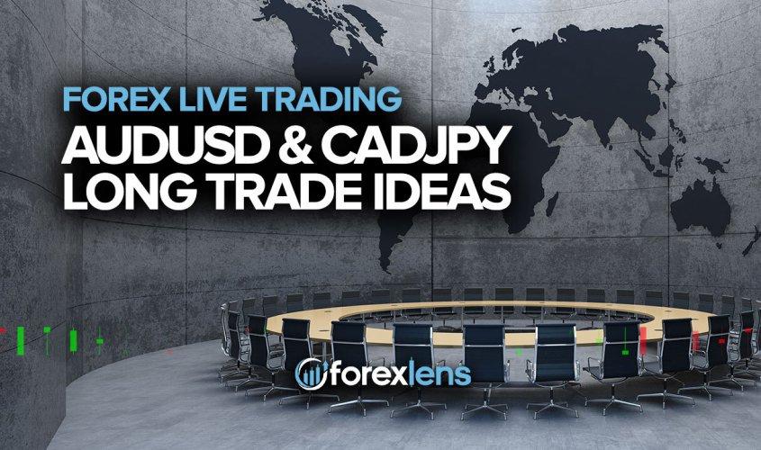 AUDUSD and CADJPY Long Trade Ideas