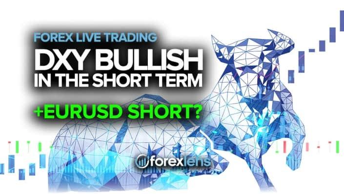 DXY Bullish in the Short Term + EURUSD Short?