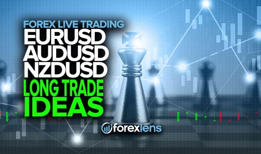 EURUSD, AUDUSD and NZDUSD Long Trade Ideas