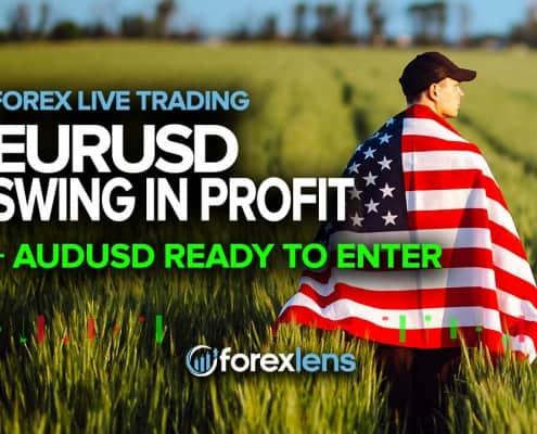 EURUSD Swing in Profit + AUDUSD Ready to Enter