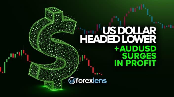 Le dollar américain a baissé + la hausse des bénéfices de l'AUDUSD