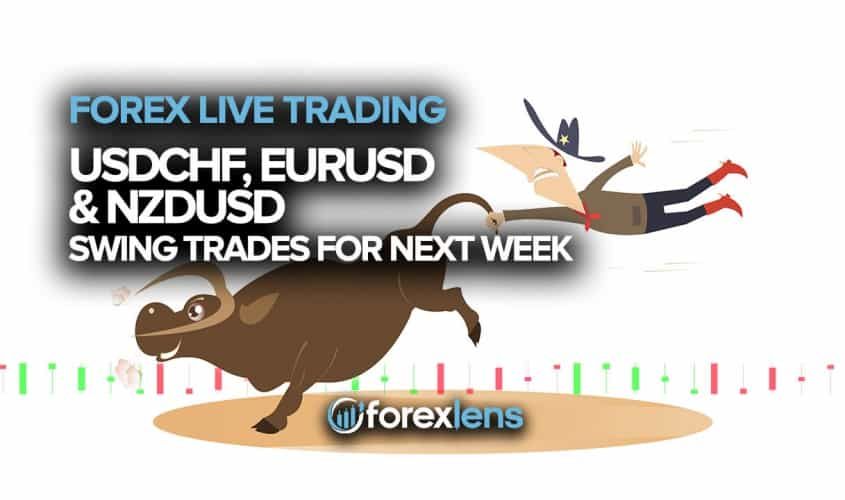 USDCHF, EURUSD and NZDUSD Swing Trades for Next Week