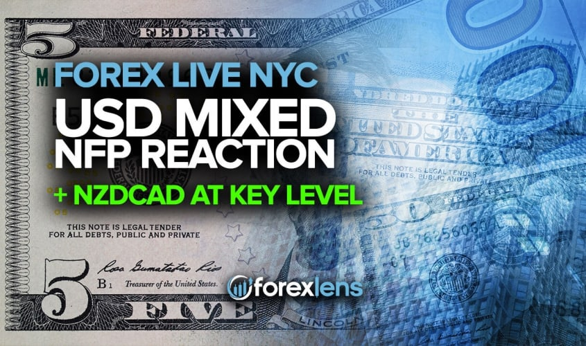 USD Mixed NFP Reaction + NZDCAD At Key Level