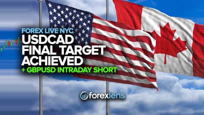 Target USDCAD final Achieved GBPUSD Intraday Short +