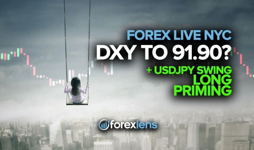 DXY to 91.90? + USDJPY Swing Long Priming