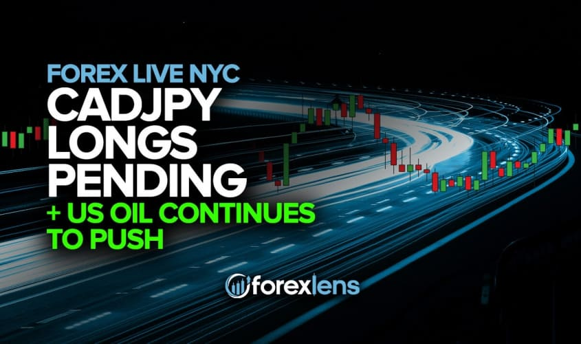 CADJPY Longs Pending + US Oil Continues to Push