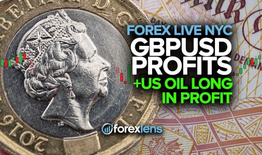 GBPUSD Profits +US Oil Long in Profit