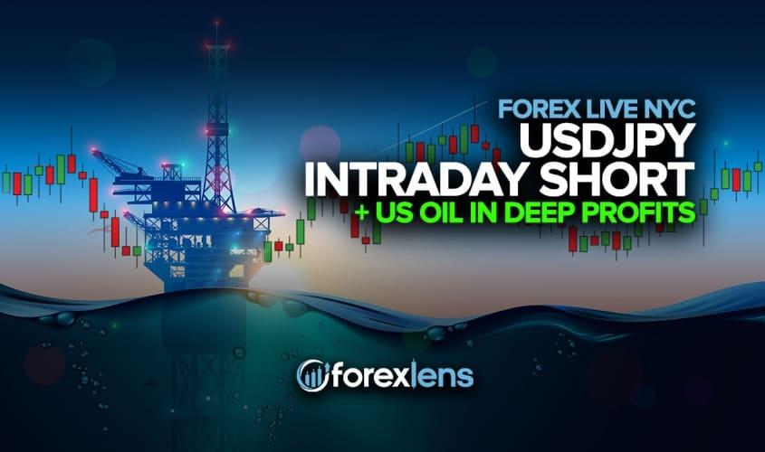 USDJPY Intraday Short + US Oil in Deep Profits
