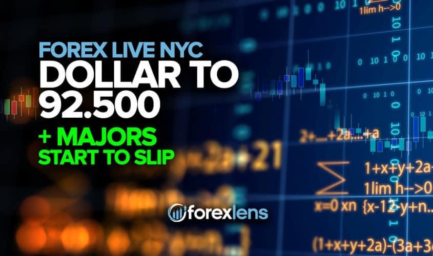 Dollar to 92.500 + Majors Start to Slip