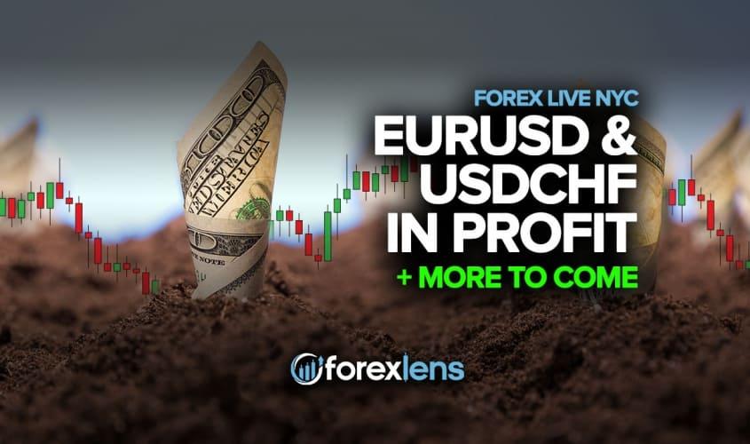 Zisk EURUSD a USDCHF + další