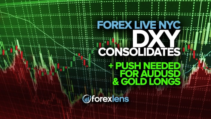 DXY Consolidates, Push Needed for AUDUSD and Gold Longs