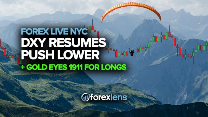 DXY Resume Push Lower + Gold Eyes 1911 for Longs