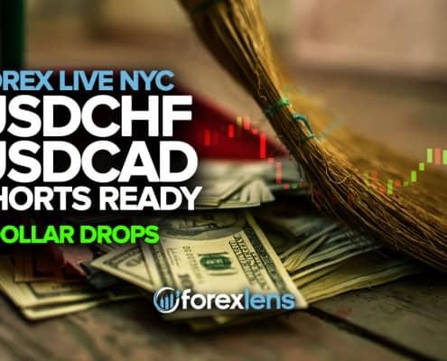 USDCHF اور USDCAD شارٹس تیار ہیں جیسے ڈالر کی کمی ہے
