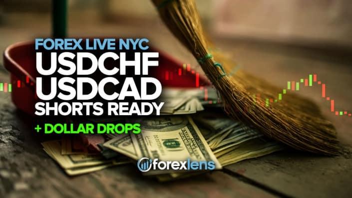 USDCHF and USDCAD Shorts Ready as Dollar Drops