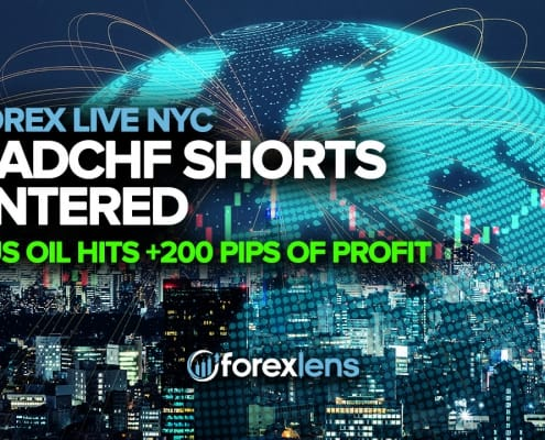 CADCHF Shorts Entered and US Oil Hits +200 Pips of Profit