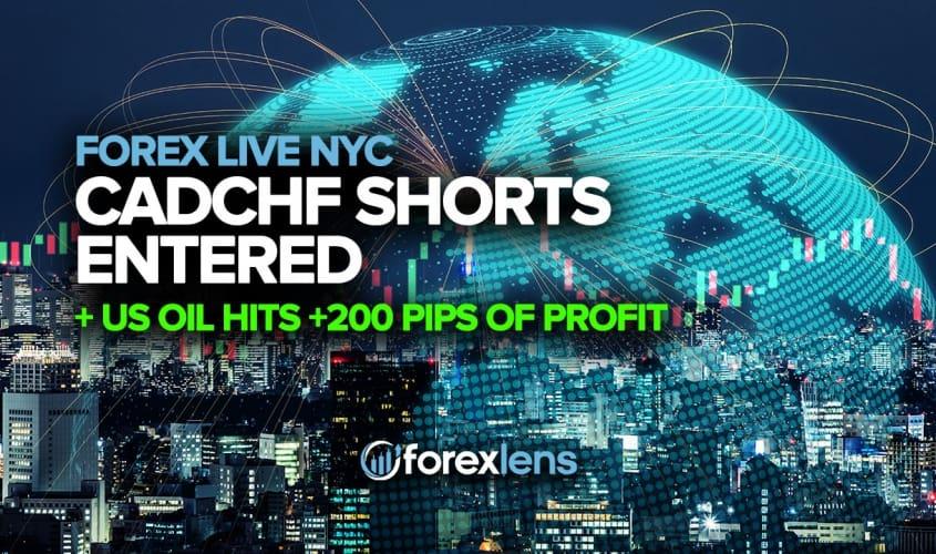 กางเกงขาสั้น CADCHF เข้าสู่ตลาดและน้ำมันสหรัฐพุ่ง +200 Pips