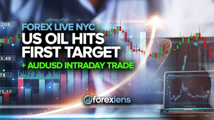 US Oil Hits First Target + AUDUSD Intraday Trade