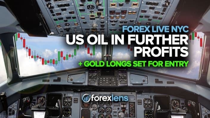 US Oil in Further Profits + Gold Longs Set for Entry