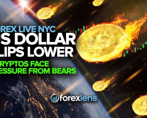 US DOLLAR SLIPS LOWER + CRYPTOS FACE PRESSURE FROM BEARS