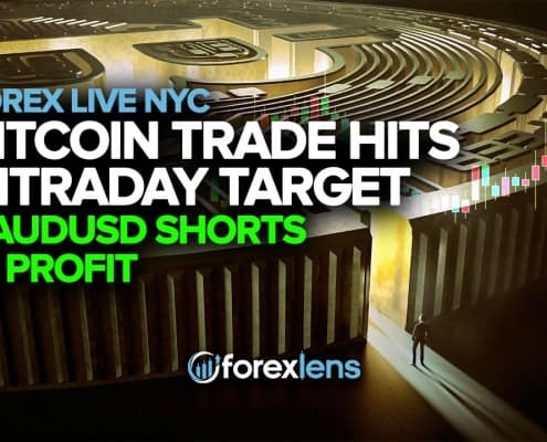Bitcoin Trade Hits Intrday Target + AUDUSD Shorts in Profit