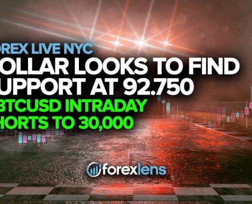 Dollar siket stipe te finen op 92.750 + BTCUSD Intraday Shorts oant 30,000