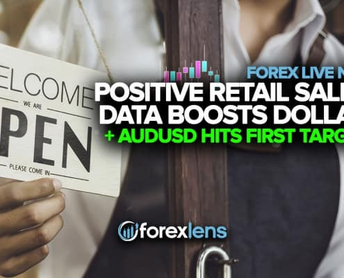 Positive Retail Sales Data Boosts Dollar and AUDUSD Hits First Target