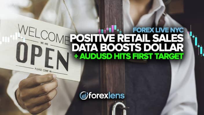 Положительные данные о розничных продажах увеличивают доллар и AUDUSD до первой цели