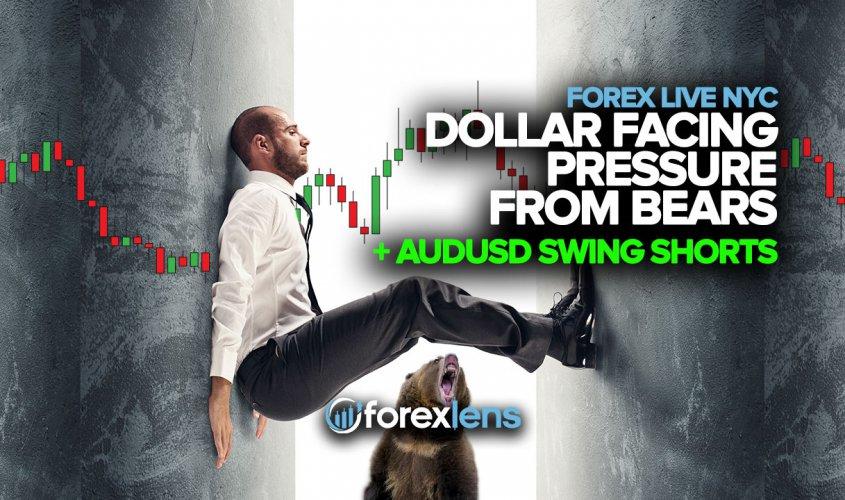 Dollar Facing Pressure From Bears + AUDUSD Swing Shorts
