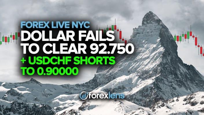 Доллар не может закрыть шорты 92.750 + USDCHF до 0.90000