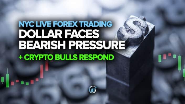 Доллар сталкивается с медвежьим давлением + крипто-быки реагируют