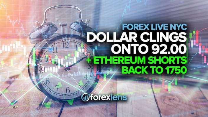 Dollar Clings onto 92.00 + Ethereum Shorts Back to 1750