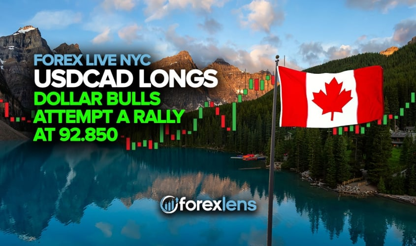 USDCAD Longs as Dollar Bulls Attempt a Rally at 92.850