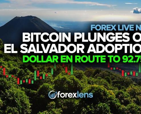 Bitcoin Plunges on El Salvador Adoption + Dollar En Route to 92.750