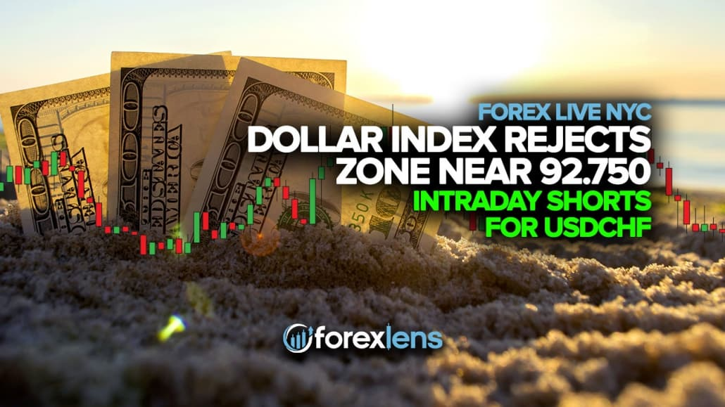 Dollar Index Rejects Zone Near 92.750 + Intraday Shorts for USDCHF