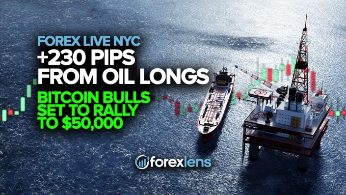 +230 Pips from Oil Longs + Bitcoin Bulls Set to Rally to $50,000