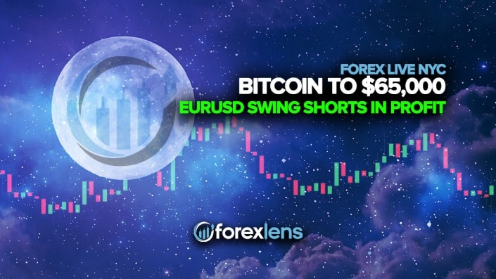 Bitcoin to $65,000 + EURUSD Swing Shorts in Profit