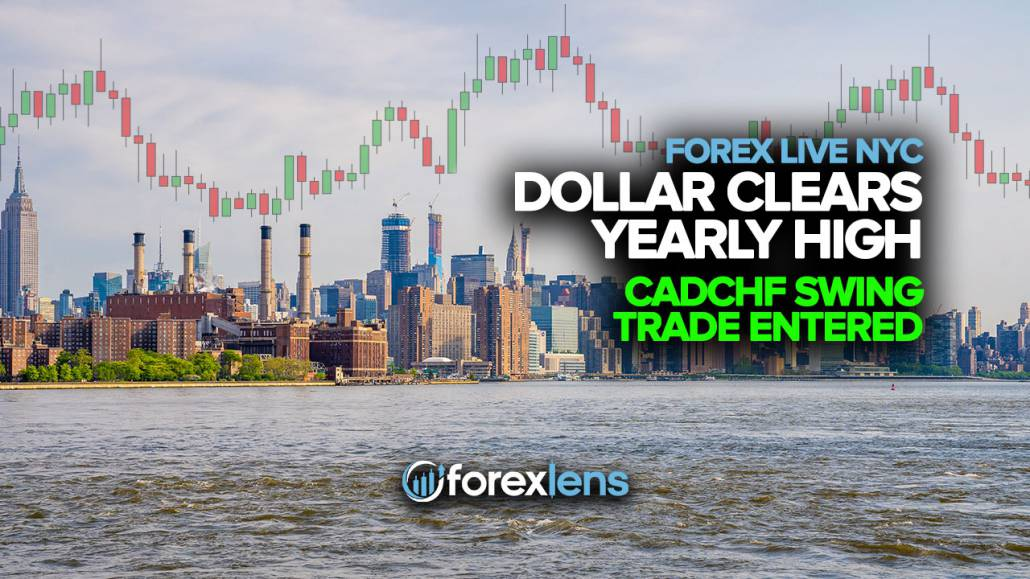 Dollar Clears Yearly High + CADCHF Swing Trade Entered